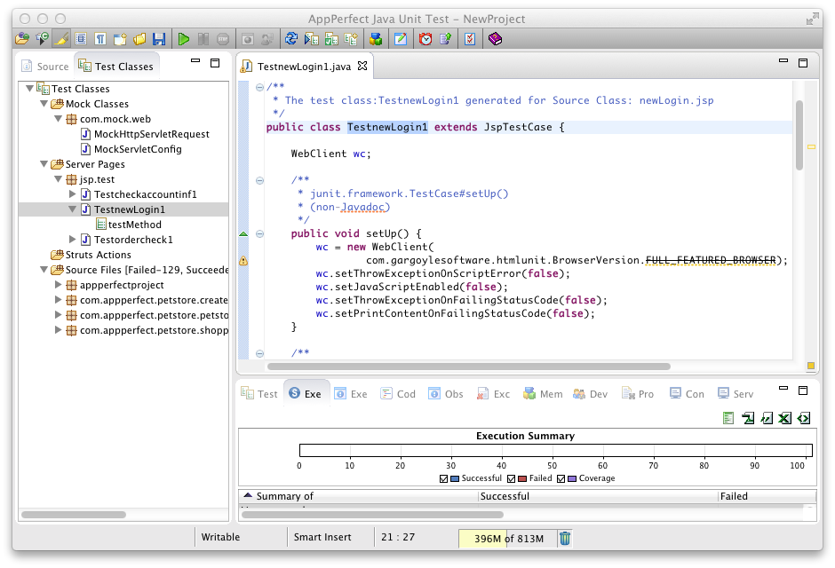 how to create test cases java