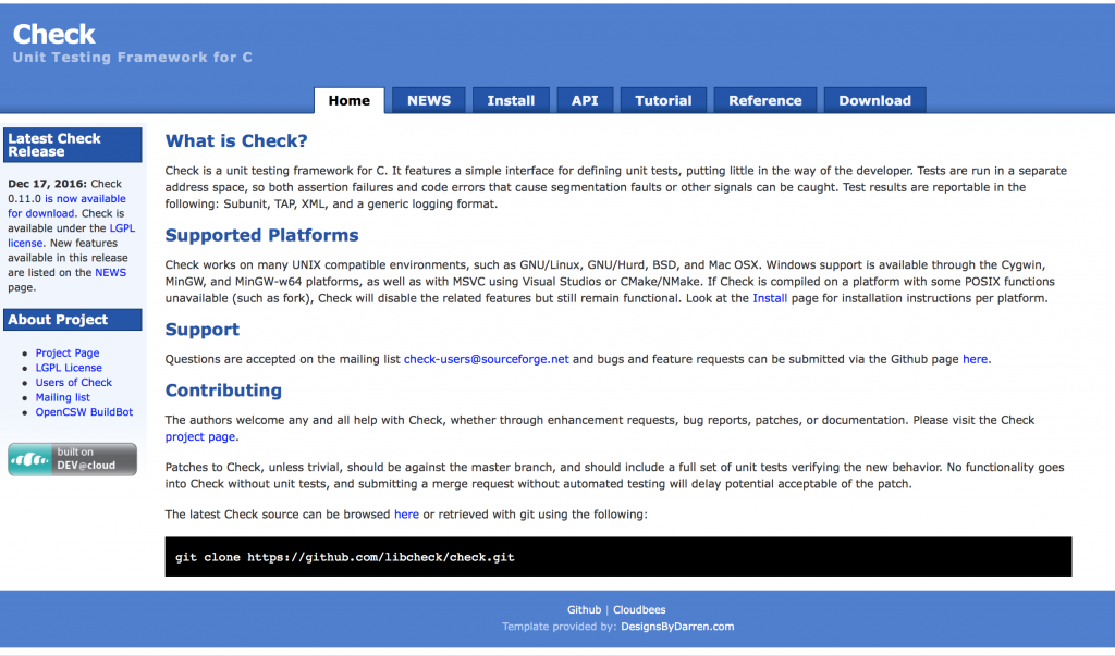 Check - Software Testing Tools Guide